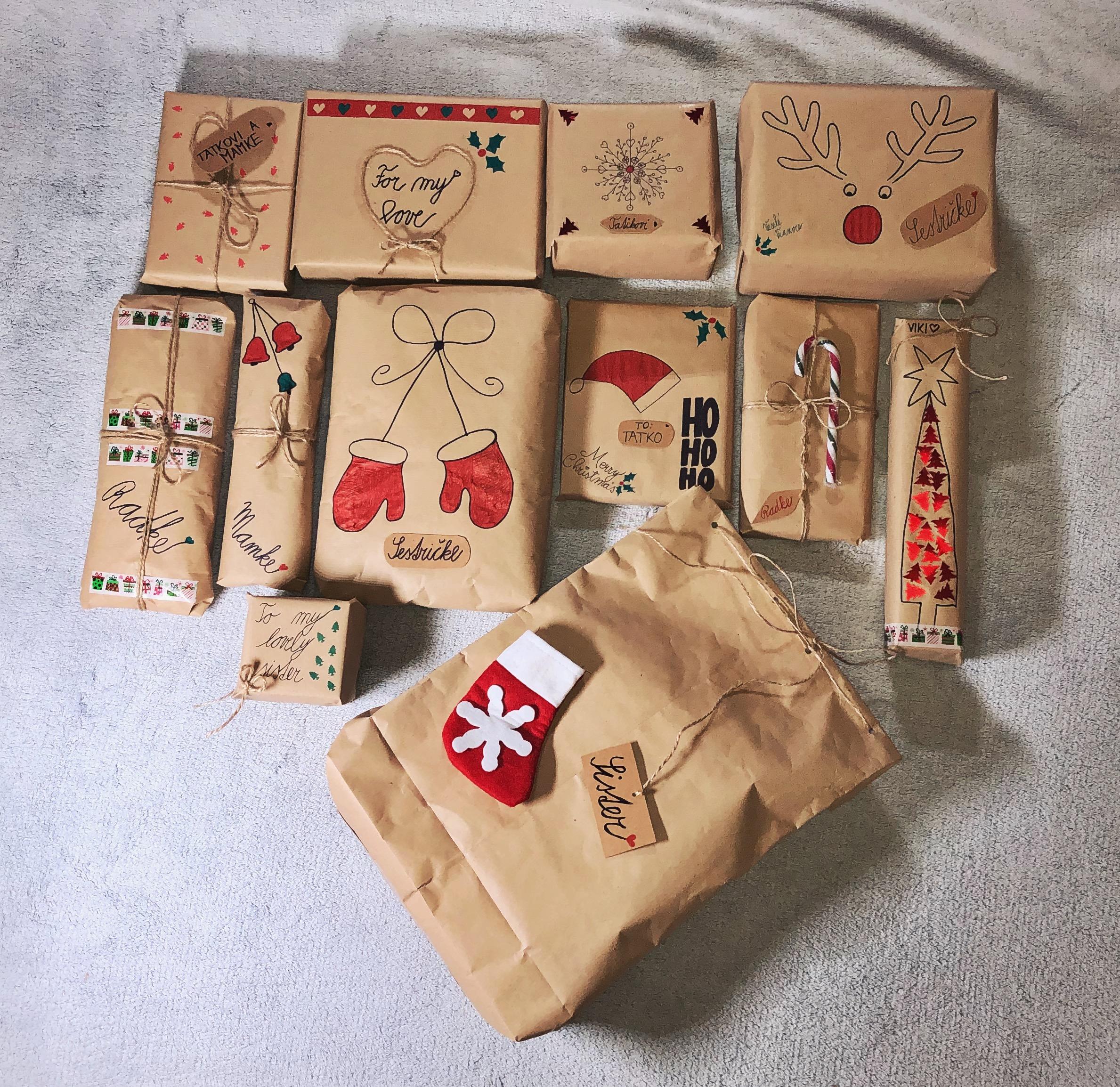 netradičné a originálne balenie vianočných darčekov.