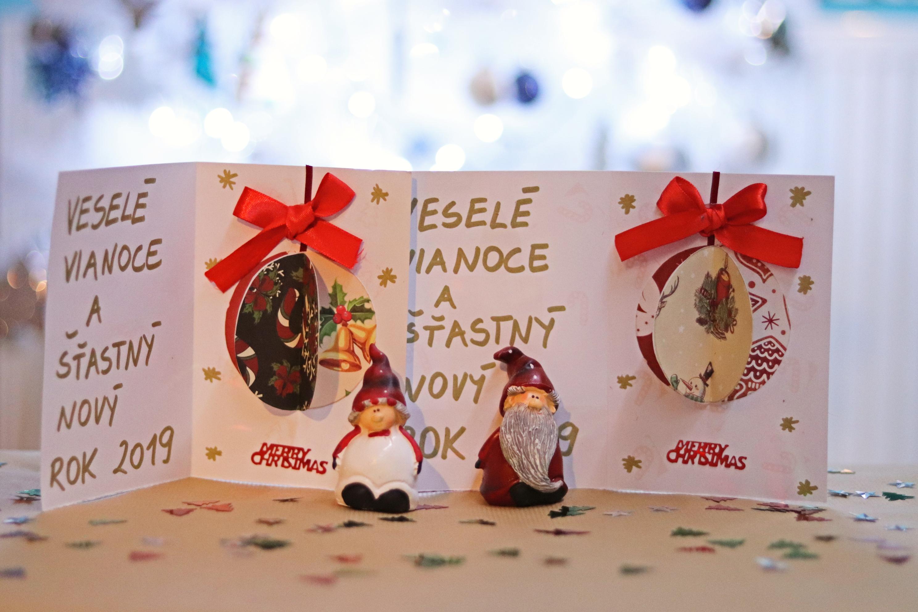 handmade vianočné pozdravy pre potešenie.